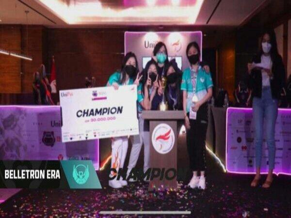 Kembali Taklukkan EVOS Lynx, Belletron Era Juara UniPin Ladies Series