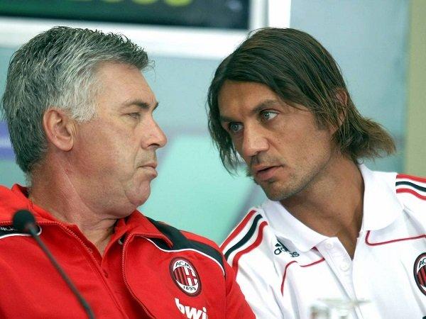 Carlo Ancelotti dan Paolo Maldini