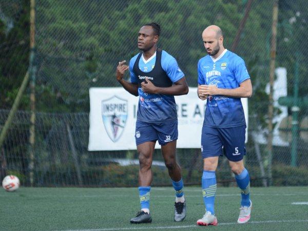 Mohammed Rashid dalam sesi latihan perdana bersama Persib