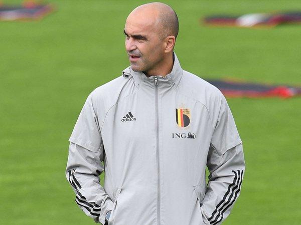 Pelatih Belgia, Roberto Martinez.