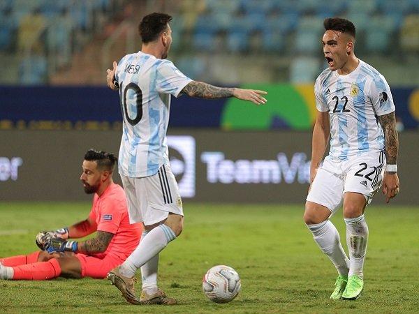 Lionel Messi berikan tiket ke semifinal kepada Argentina.