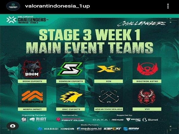 VCT Challengers Indonesia Open Qualifier: 7 Tim Segel Tiket Main Event