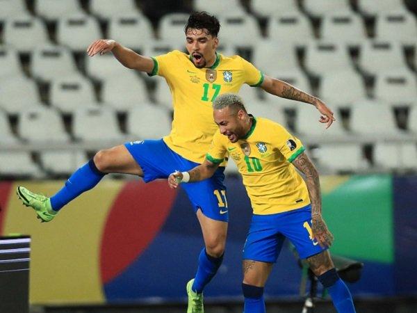 Lucas Paqueta antar Brasil ke final Copa America 2021.