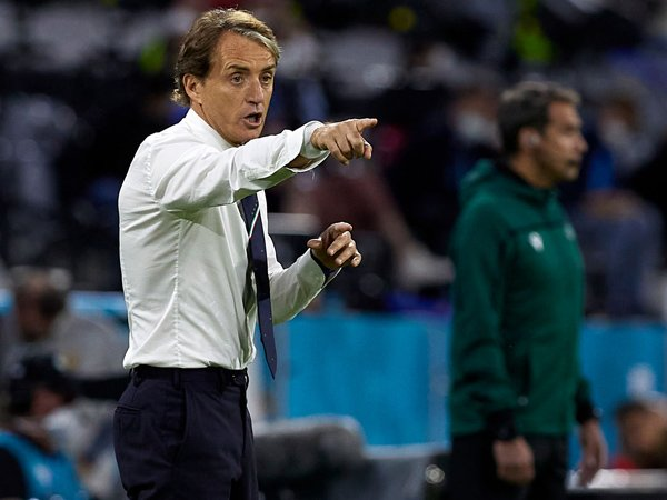 Pelatih timnas Italia, Roberto Mancini.