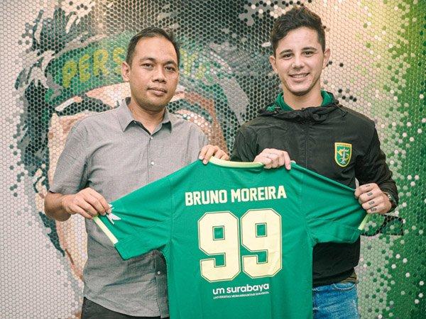 Aji Santoso sebut pemain asing Persebaya Surabaya, Bruno Moreira tunjukkan progres positif
