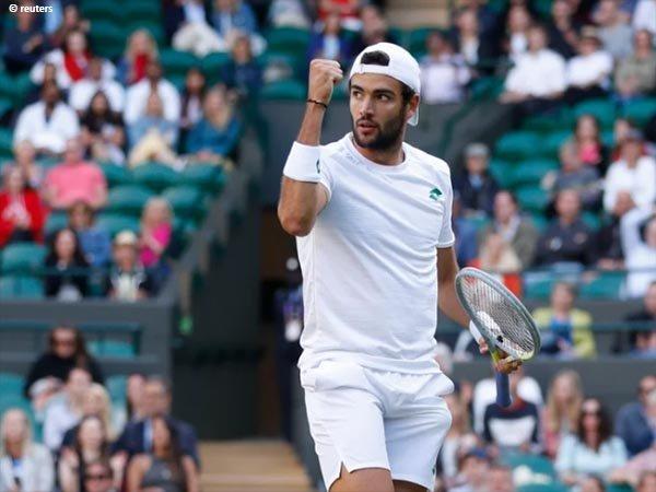 Matteo Berrettini siap tampil di semifinal Wimbledon untuk kali pertama