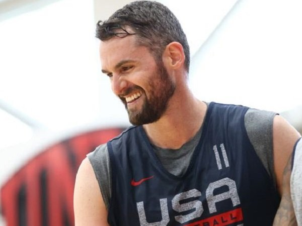 Kevin Love saat berlatih bersama Timnas Basket AS. (Images: Getty)