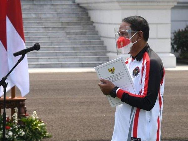 Menpora, Zainudin Amali saat menghadiri pelepasan Kontingen Olimpiade Indonesia (Images: Kemenpora)