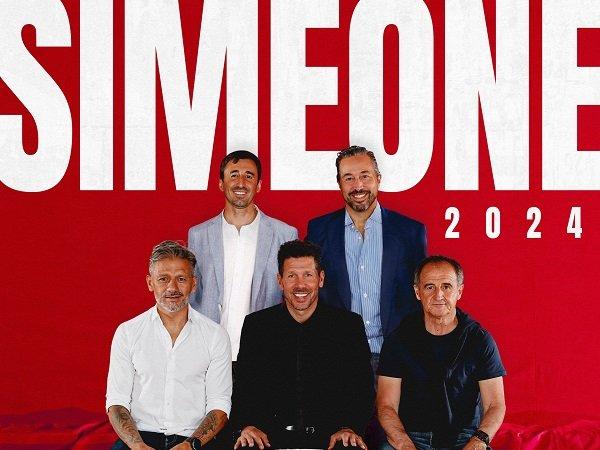 Atletico Madrid umumkan perpanjangan kontrak Simeone