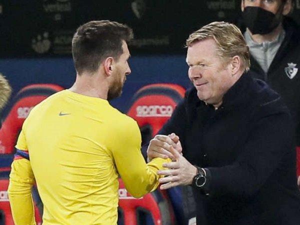 Ronald Koeman saat bersama Lionel Messi. (Images: Getty)