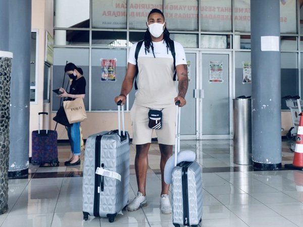 Calon pemain asing pertama Arema FC, Carlos Fortes tiba di Malang