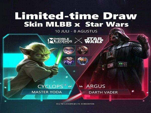 Kolaborasi Mobile Legends x Star Wars Hadirkan Skin Darth Vader dan Yoda