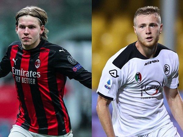 Duo bintang muda Milan Jens Petter Hauge dan Tommaso Pobega