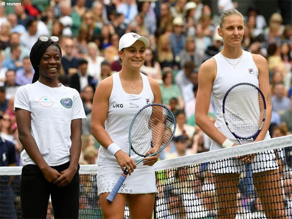 Laga final Ashleigh Barty kontra Karolina Pliskova di Wimbledon menarik banyak penonton