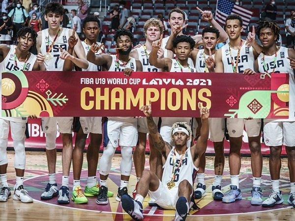 Tim Basket Amerika Serikat juarai Piala Dunia FIBA U-19 2021.