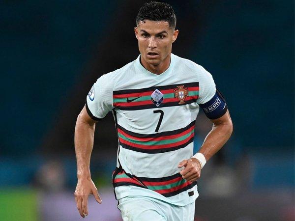 Penyerang timnas Portugal, Cristiano Ronaldo.