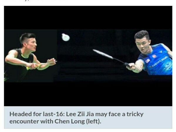 Potensi Bentrokan Chen Long dan Lee Zii Jia di 16 Besar Olimpiade Tokyo