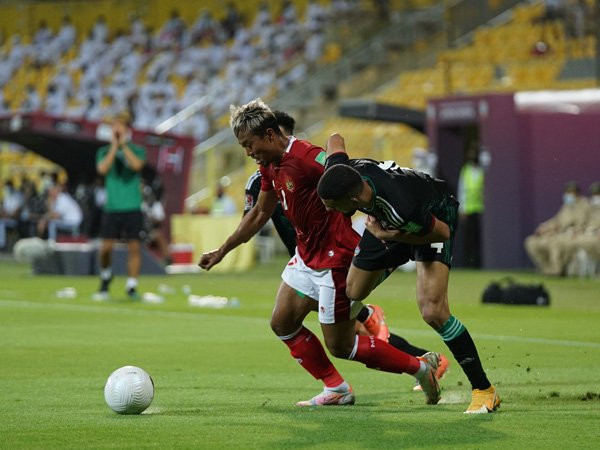 Timnas Indonesia saat tampil pada Kualifikasi Piala Dunia 2022