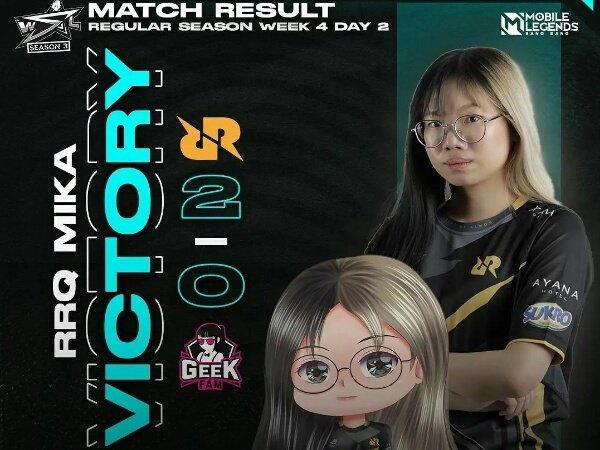 WSL Season 3: Gebuk Morph Akasha dan Geek Ladies, RRQ Mika Tembus 2 Besar
