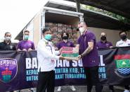 Persita Tangerang Peduli, Serahkan Bantuan Untuk Warga Terdampak Covid-19