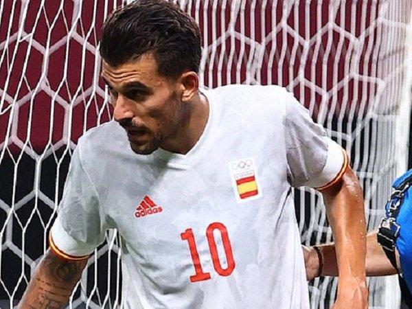 Dani Ceballos alami cedera saat bela Spanyol.
