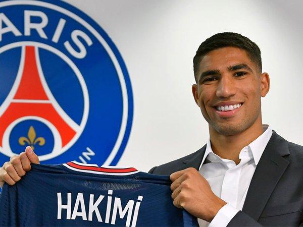 Bek sayap Paris Saint-Germain, Achraf Hakimi.