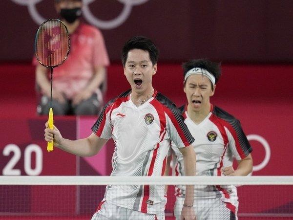 Tiga wakil Indonesia tercatat akan ambil bagian pada hari keempat cabang olahraga badminton Olimpiade Tokyo 2020 / via AP Photo