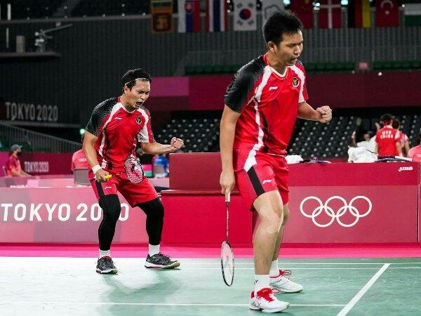 Singkirkan Wakil Tuan Rumah, Ahsan dan Hendra Tiba di Semifinal