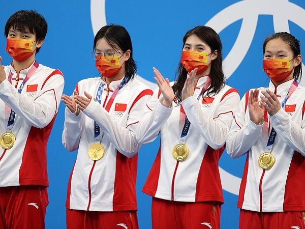 Cina duduki puncak klasemen sementara perolehan medali Olimpiade Tokyo 2020.