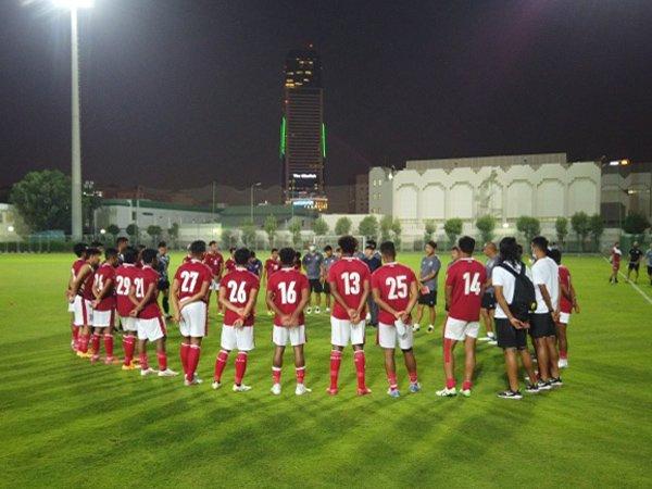 Skuat timnas Indonesia saat tampil di babak Kualifikasi Piala Dunia di Qatar