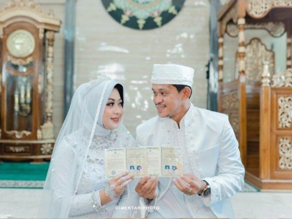 Rizky Pellu setelah proses akad nikah