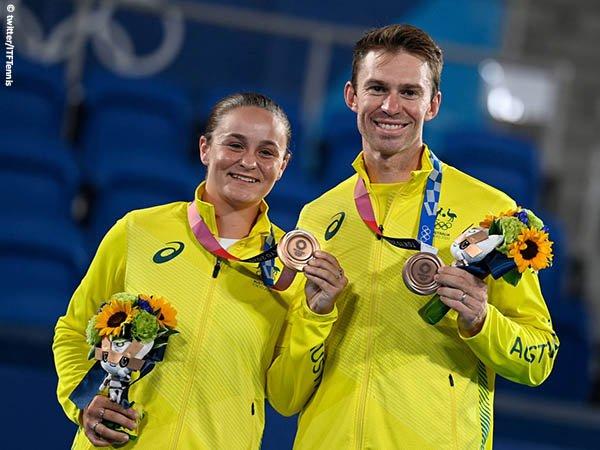 Reaksi Ashleigh Barty usai menangkan medali perunggu Olimpiade Tokyo