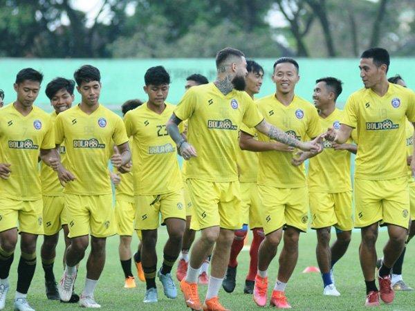Skuat Arema FC siap arungi Liga 1 dengan prokes ketat