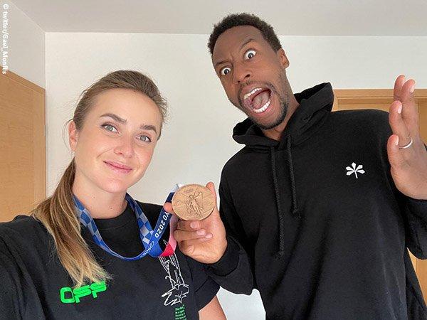 Gael Monfils bagikan kebahagiaan usai Elina Svitolina bawa pulang medali perunggu Olimpiade