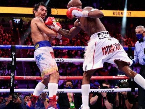 Yordenis Ugas ketika melawan Manny Pacquiao. (Images: Getty)
