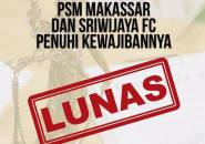 PSM Makassar Dan Sriwijaya FC Lunasi Tunggakan Gaji Pemain
