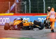Lando Norris Kecelakaan Parah, Kualifikasi GP Belgia Dihentikan Sementara
