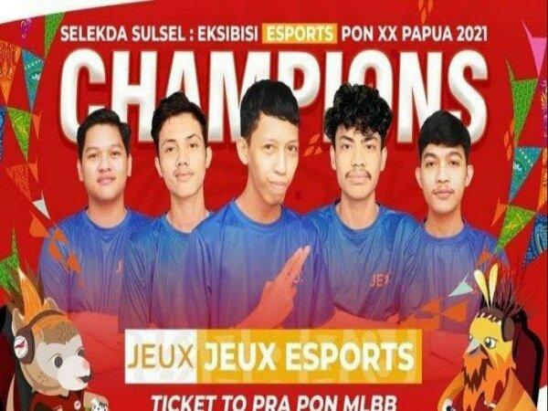 Jeux Esports Jadi Wakil Sulsel di Esports Mobile Legends Pra PON XX Papua