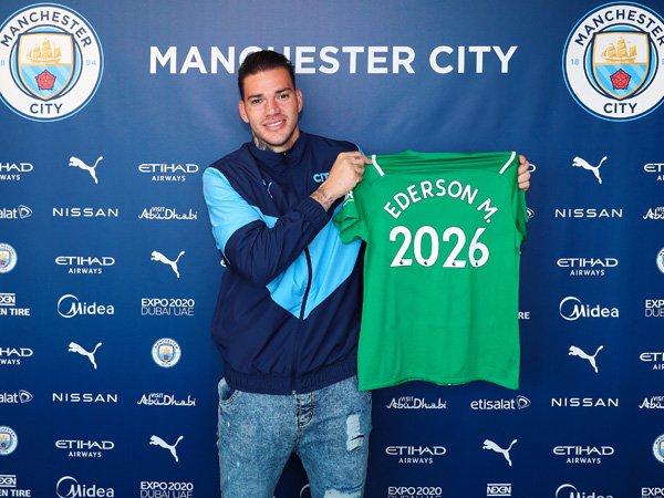 Kiper Manchester City, Ederson Moraes.