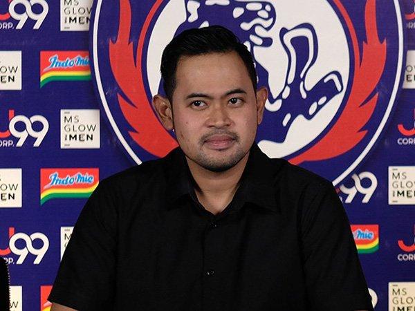 Presiden klub Arema FC, Gilang Pramana