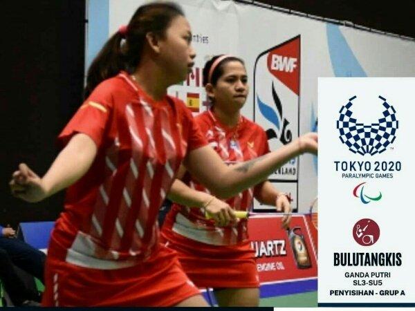 Leani/Sadiyah Tembus Semifinal Paralimpiade Tokyo 2021