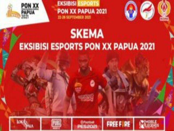 Berikut Ini Skema Ekshibisi Esports PON XX Papua 2021