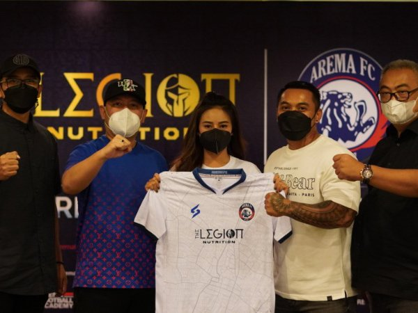 The Legion Nutrition jadi sponsor utama Arema FC untuk Liga 1 2021/2022