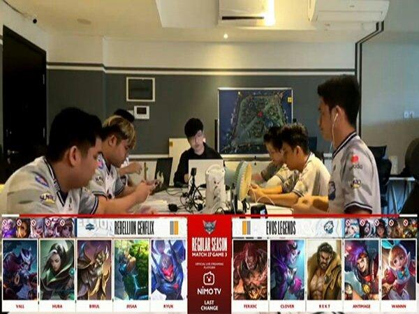 Hasil MPL ID Season 8: EVOS Legends Kerja Keras Taklukkan Tim Juru Kunci