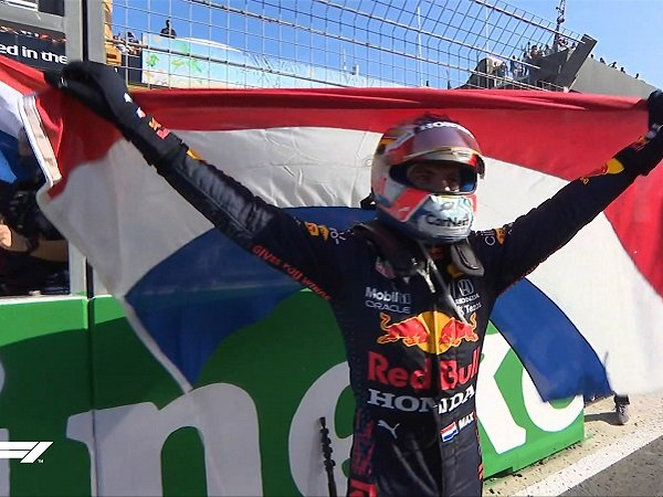 Klasemen F1 dikuasai oleh Max Verstappen.