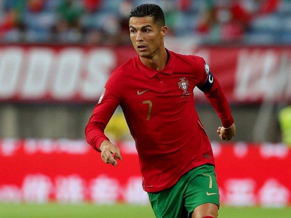 Penyerang Manchester United, Cristiano Ronaldo.