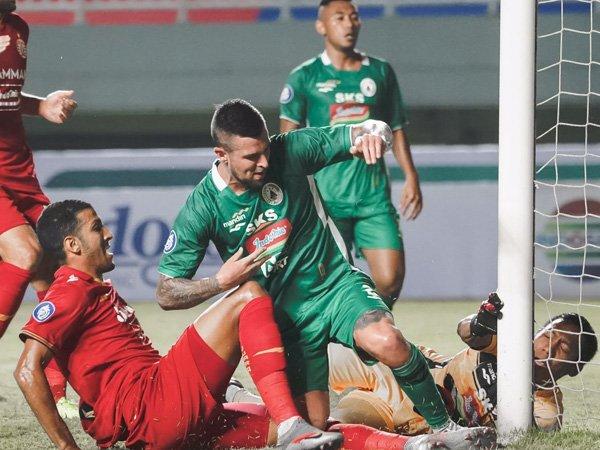 Laga PSS Sleman kontra Persija Jakarta di pekan pertama Liga 1