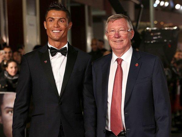 Cristiano Ronaldo dan Sir Alex Ferguson.