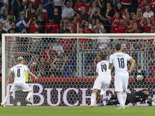Giorgio Chiellini sebut Italia bisa saja kalah setelah Jorginho gagal penalti.