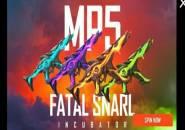Incubator Terbaru Free Fire Skin MP5 Fatal Snarl Hadir 7 September 2021